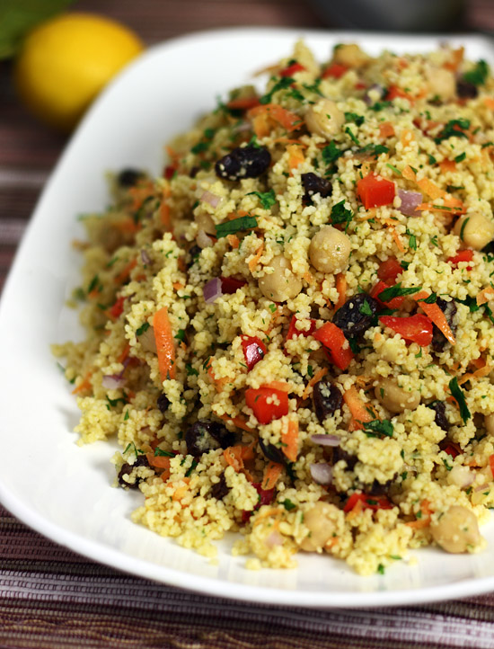 Moroccan chickpea and couscous salad for Couscous food recipe